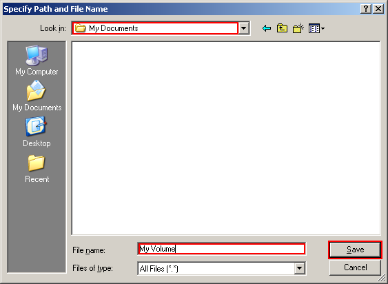 Click Select File. The standard Windows file selector should appear (while the window of the TrueCrypt Volume Creation Wizard remains open in the background).