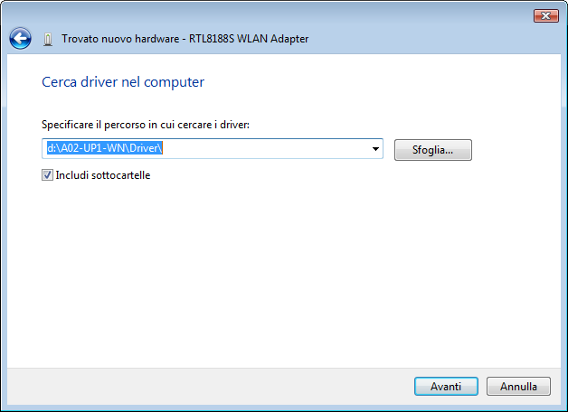 Windows VISTA 1) Select the option Locate and install driver software. 2) Select I don t have the disk. Show me other options and after Browse my computer for driver software.