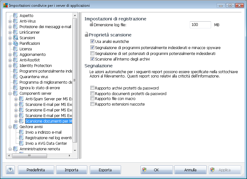 10.3.6. Scansione documenti per MS SharePoint Questa voce contiene le impostazioni di Scansione documenti per MS SharePoint.