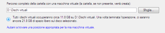 143 - Dimensione del disco virtuale.