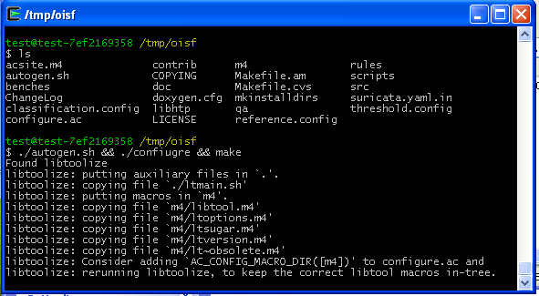 2 Installazione ed implementazione $ cd /tmp $ git clone git://phalanx.openinfosecfoundation.org/oisf.