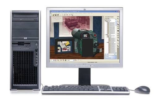 HP xw4400 Workstation at-a-glance Package Convertible minitower (17.7 x 6.6 x 17.9 ) 1 PCIe (x16) Graphics, 1 PCIe (x16 1 ), 1 PCIe (x1), 3 PCI 6 storage bays (Opt.