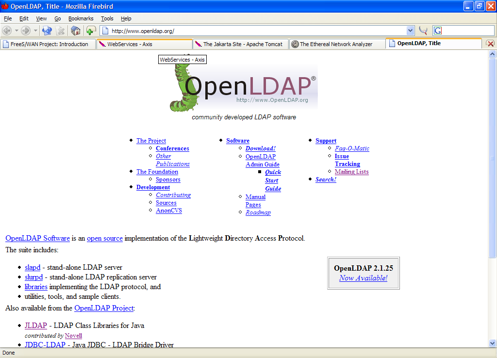 Software B.5 OpenLDAP OpenLDAP è l implementazione open source di LDAP più diffusa per server UNIX-like.