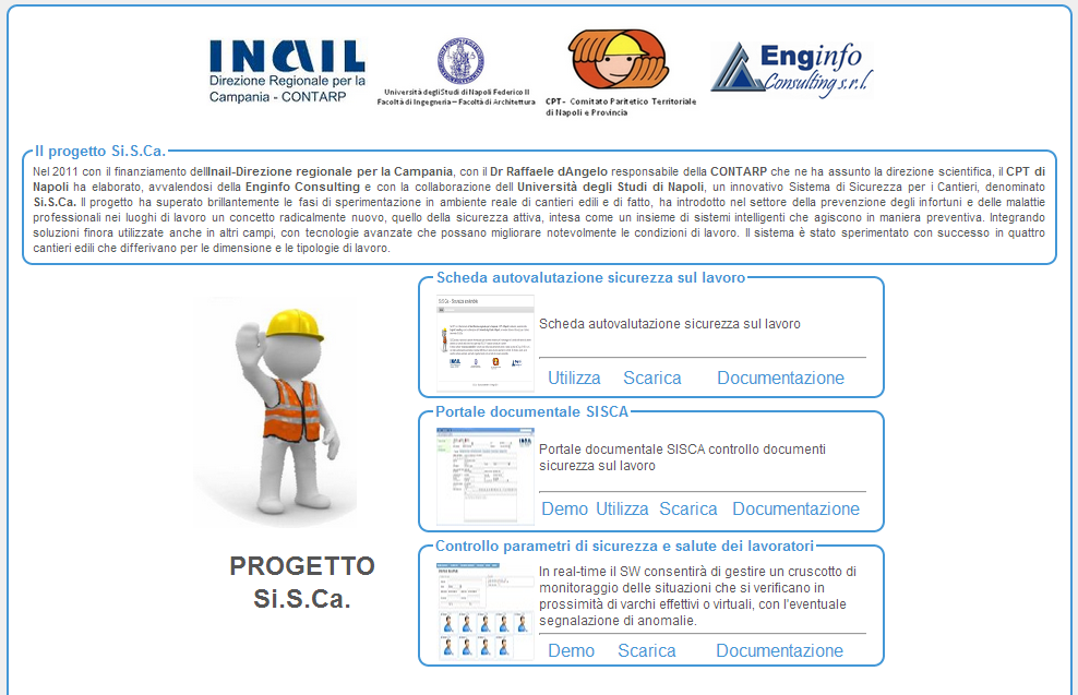 Installazione Step1: Download del software. Il software è reperibile attraverso il sito internet, http://www.enginfo.