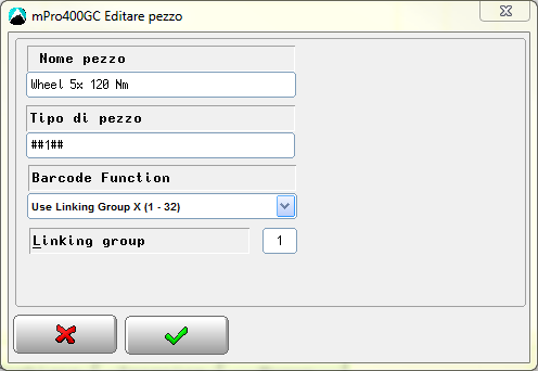 6 Modo APEX GC: setup di trasmissione 6 c01338it.png Fig.