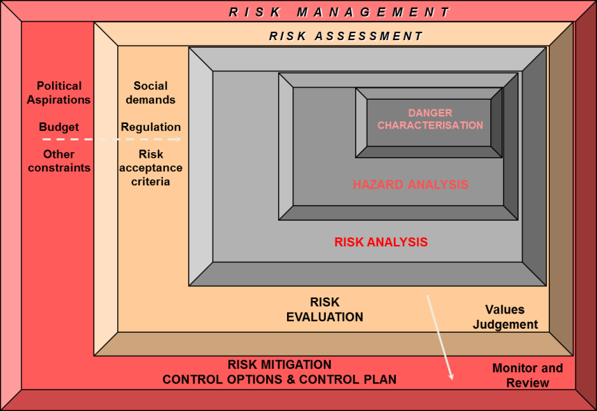 Governo del territorio e gestione del rischio da frana Risk analysis Risk assessment Risk management Fell et al. (2005).