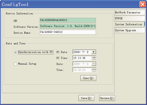"4.1.4 System Select ""System Information"" on the right-hand side of the interface."