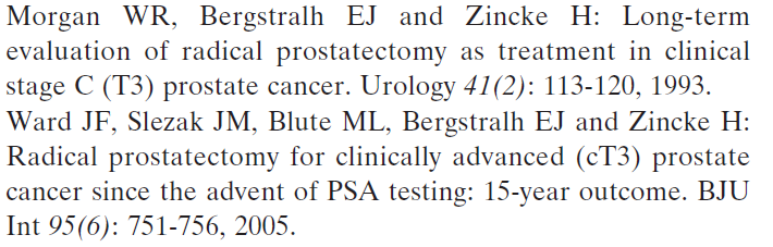 Locally Advanced Prostate Cancer Locally advanced prostate cancer is defined as a tumor that has extended clinically beyond the prostatic capsule, with invasion of the pericapsular tissue, apex,