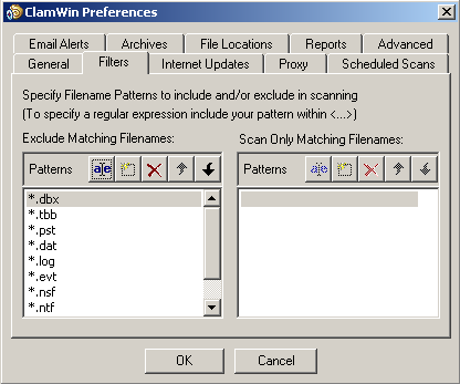 Con Windows 2000 la cartella quarantena si trova al percorso: C:\Documents and Settings\All Users\.clamwin\quarantine.