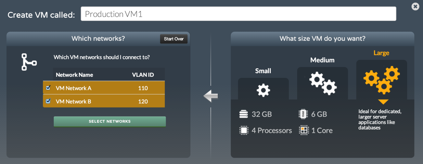 Easy VM Creation & Management Intuitive UI with simplified VM creation and