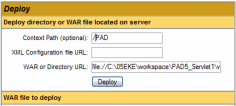 Deployment Uso del Tomcat Manager http://localhost:8080/manager/html Deployment da directory local Context path: nome applicazione