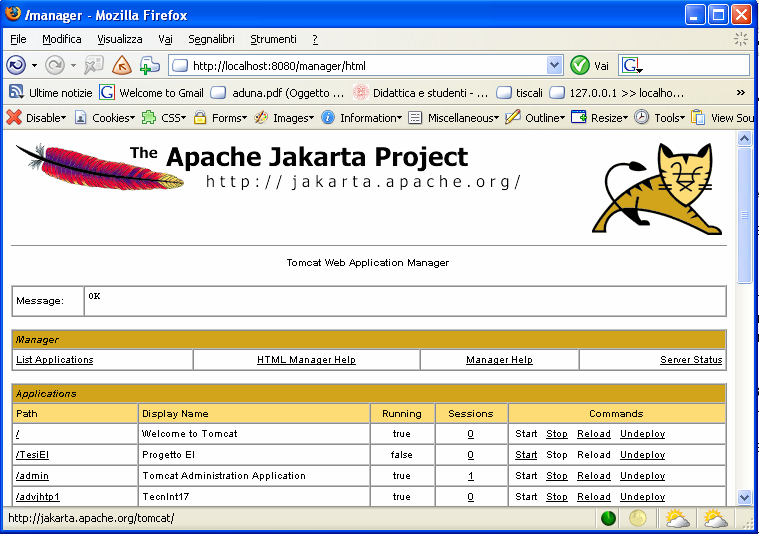 7RPFDW Apache Tomcat è un software che offre servizi di server web e di application server. E rilasciato sotto licenza Apache Software License ed è scaricabile dal sito http://tomcat.apache.org/.