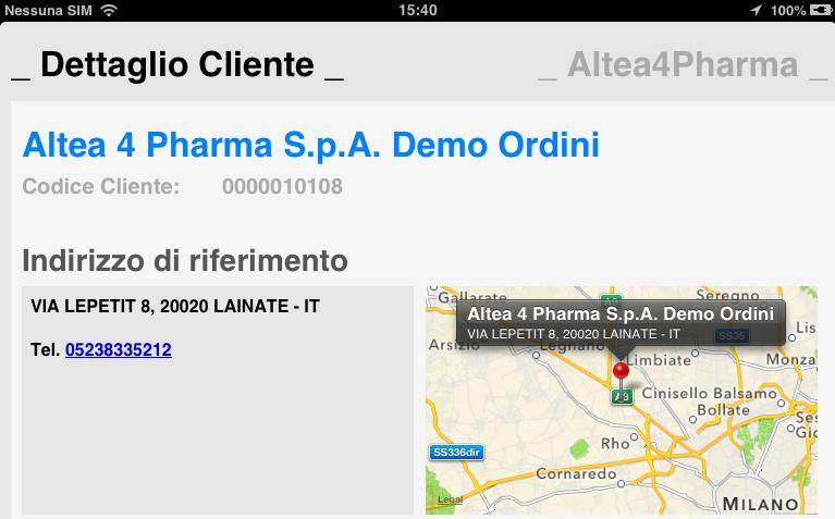 Anagrafica Cliente CLIENTI Key Features