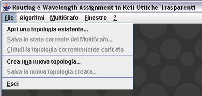 Capitolo 3: Un nuovo Algoritmo di Routing e Wavelength Assignment: S.P.A.R.K.