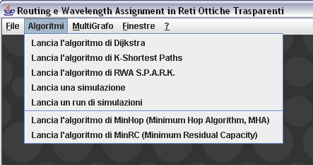 Capitolo 3: Un nuovo Algoritmo di Routing e Wavelength Assignment: S.P.A.R.K. Figura 3.