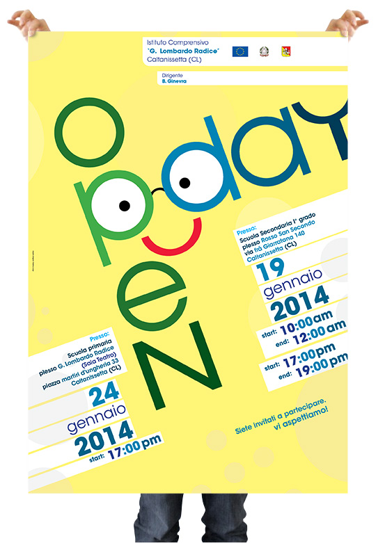 Poster 2014 Titolo: Open Day Realizzato per l open day dell