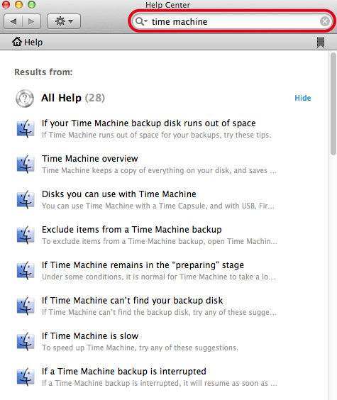 Nota: Per avere maggior informazioni su Time Machine fare riferimento a Mac 101: Time Machine (http://support.