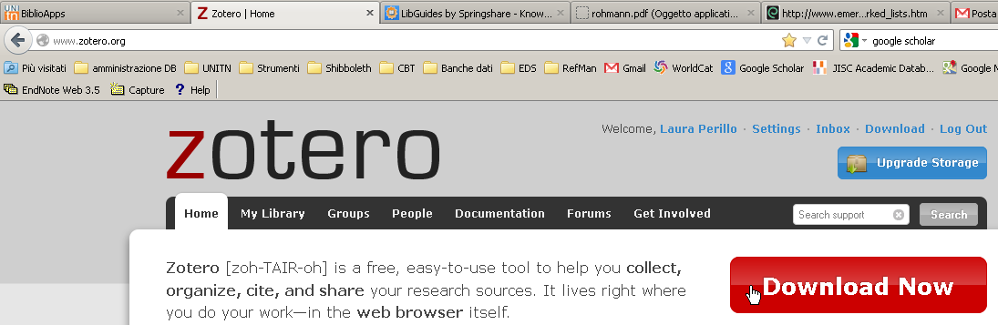 Zotero è disponibile : COME INSTALLARLO come componente aggiuntivo del browser Firefox (o estensione di Chrome o Safari); come software stand alone che funziona indipendentemente dal browser e può