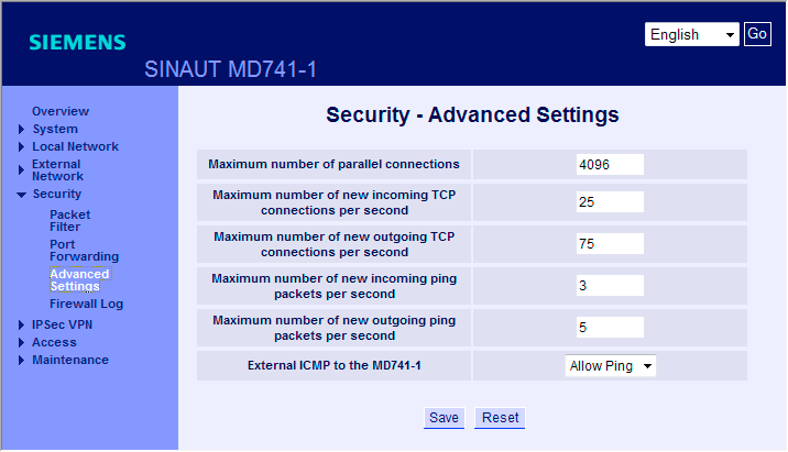 GETTING STARTED 3.5 Esempio 5: Accesso remoto - esempio di un tunnel VPN con MD741-1 e SOFTNET Security Client 4.
