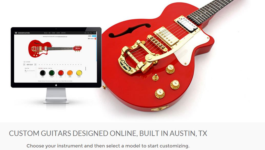 Esempi di Mass customization MONIKER GUITARS:
