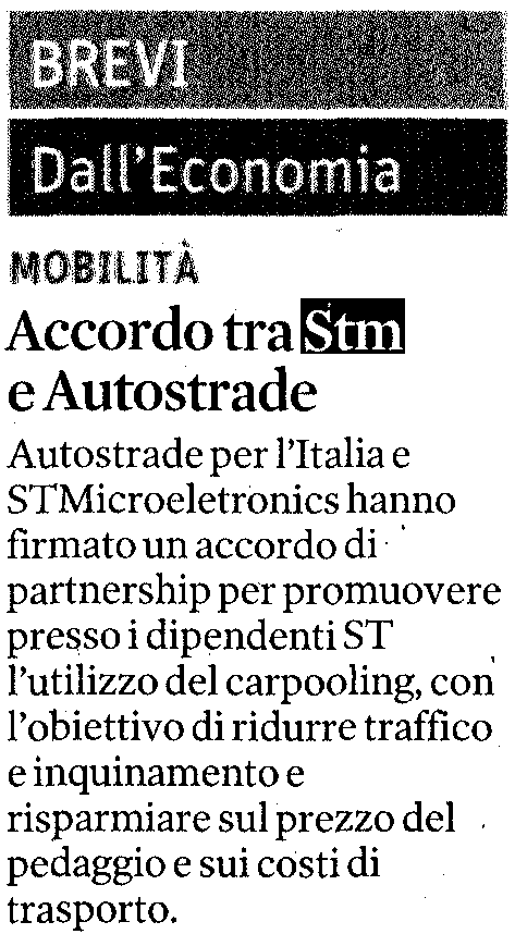 Accordo Autostrade-STMicroelectronics