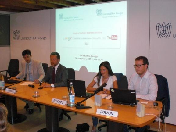 16 Settembre 2011 - Google and You Tube: business solutions Si è svolto il 16 settembre scorso l incontro Google and You Tube: business solutions, durante