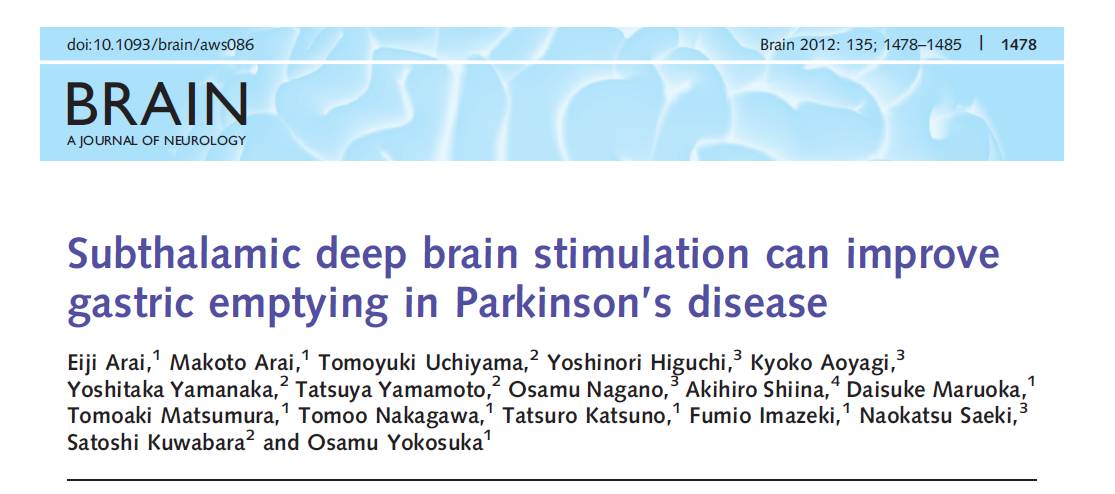 Subthalamic deep brain stimulation can improve the dysfunction in patients with Parkinson