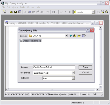 2.1.3 SQL Server 2000 1. aprire SQL Server Enterprise Manager /SQL Server management studio 2.