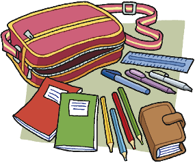 a School kit. Ascolta e ripeti le parole. an exercise book a pencil case a pen a pencil a calculator a coloured pencil an eraser a ruler a diary b Abbina gli elenchi alle cartelle.