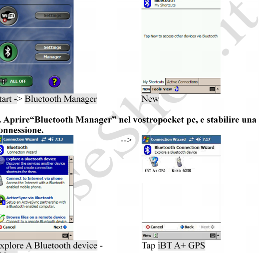 --> Start -> Bluetooth Manager New 1.