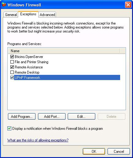 8.2 How to enable firewall exceptions for SwitchboardSuite SwitchboardConfigurator The following instructions concern Windows Firewall. The same procedure must be done for other Firewalls.