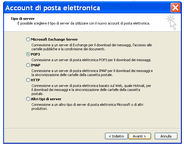 Configurazione PEC su Outlook 2003