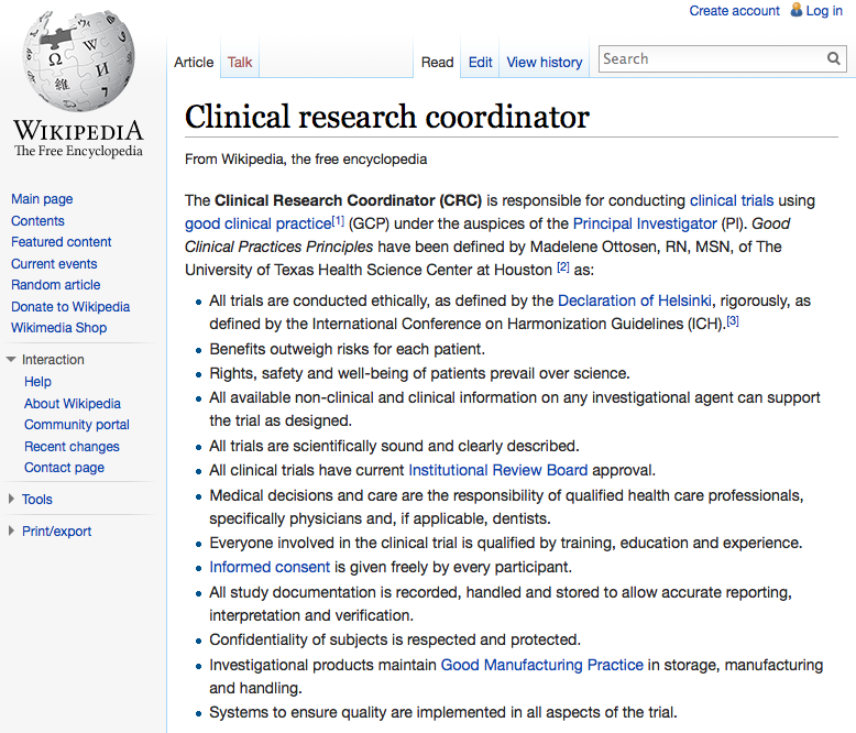 + Chi è il clinical research coordinator?