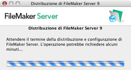 26 Guida introduttiva di FileMaker Server 18. È in corso la distribuzione di FileMaker Server.