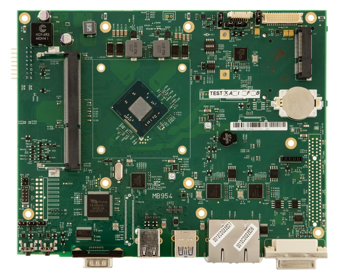PB2200 - Motherboard 954, top Processore Intel BayTrail SoC msata Connettore modulo