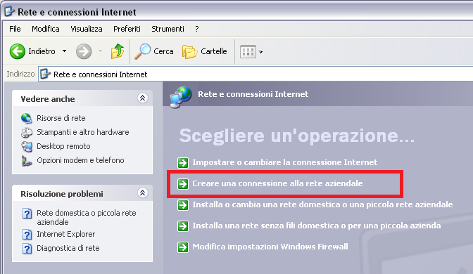1.3 Windows XP Fare clic sul pulsante