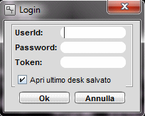 L5) Effettuare il Login con l UserID e la Password forniti dalla PBVector (il Token non serve) e