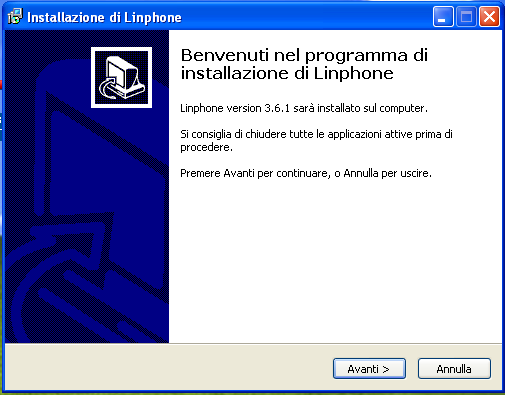 .. 4 La guida descrive brevemente la modalità di installazione e configurazione del softphone linphone su numeri voip di Clouditalia, per Windows XP, Windows Vista o Windows 7. 1.