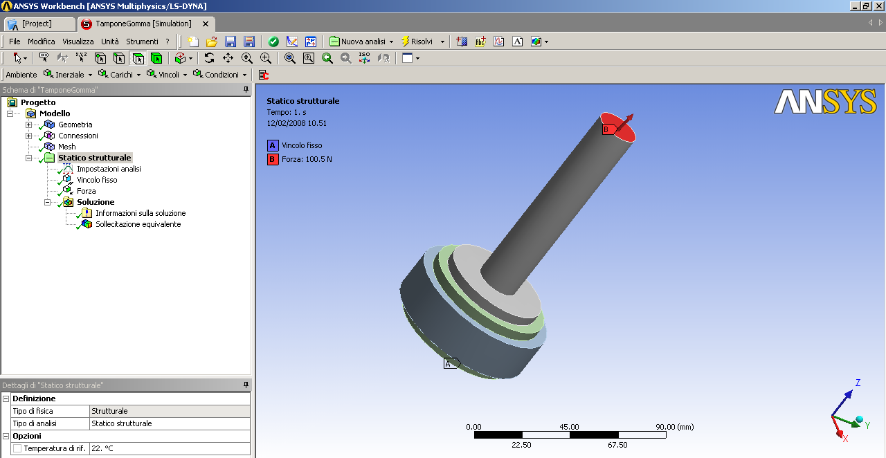 ANSYS Workbench Corpi diversi Superficie di interfaccia Atomatica