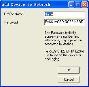 Note: The device must be in the powerline (plugged in), so that you can confirm the password and add the device to the network. If the device is not located, a warning message appears.