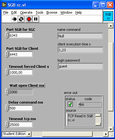 Comunicazione TCP/IP in LabVIEW Server