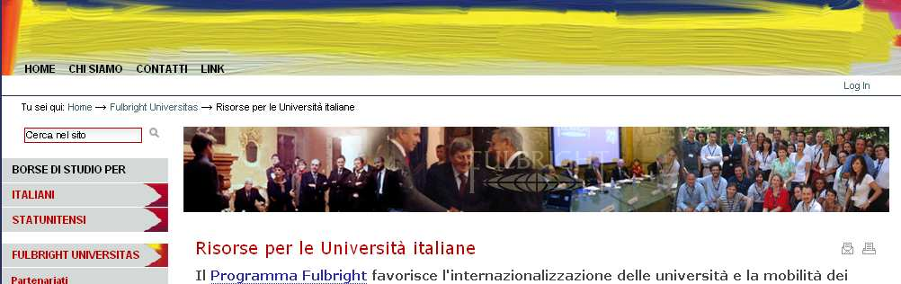 Risorse per Università Italiane Fulbright Intercountry