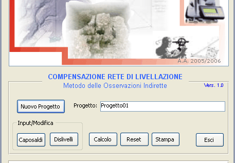 Interfacca utente e specfche d uso della procedura software La procedura software è composta da seguent form: Form prncpale (fg. ), dal quale è possble esegure le seguent procedure:.