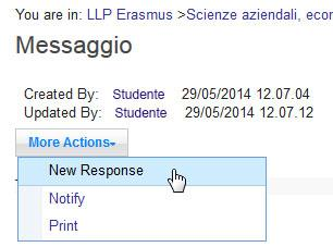 post e scegliere Respond > New Response.