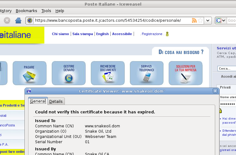 Sicurezza Phishing Roberto