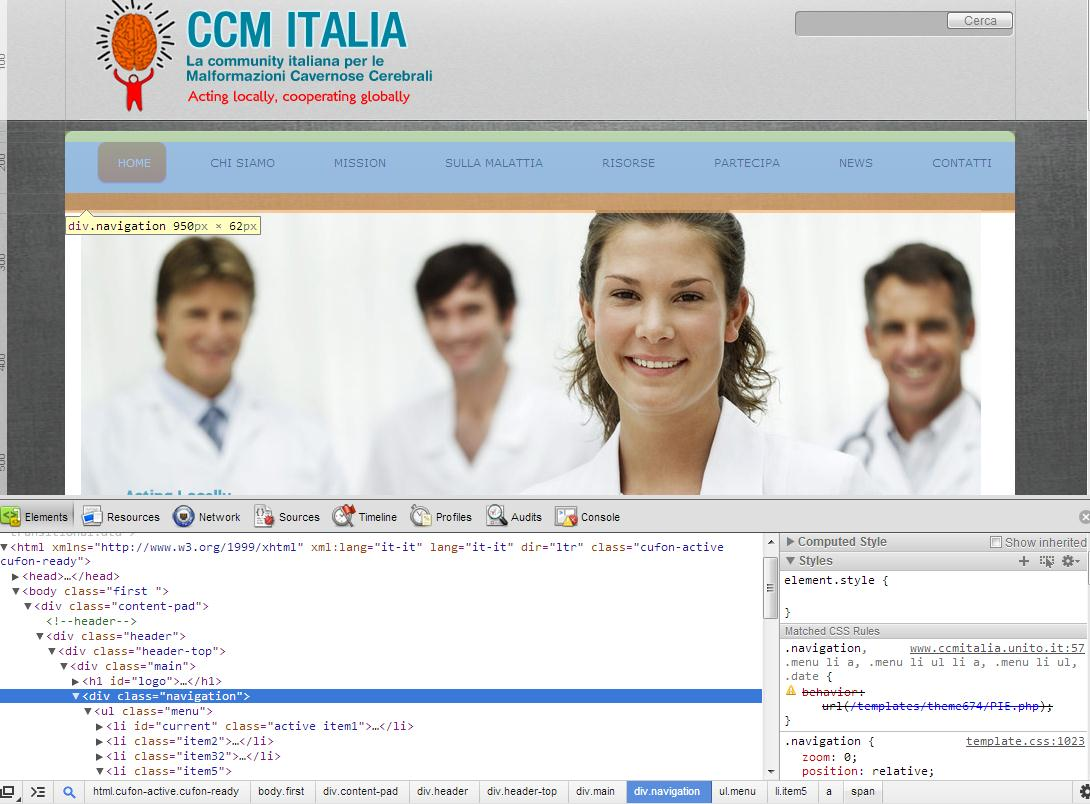 Joomla: CSS e layout [ispettore css] Ispettore/selettore