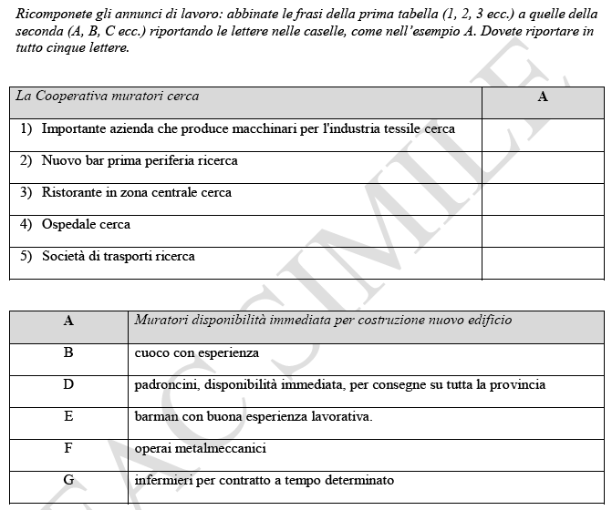 Test A2 Carta CE Prove di