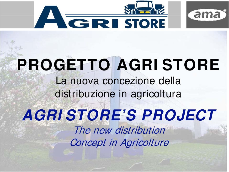 agricoltura AGRISTORE S PROJECT