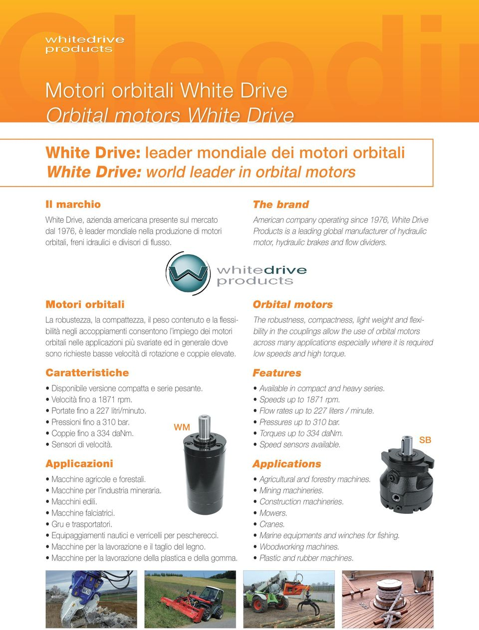 American company operating since 1976, White Drive Products is a leading global manufacturer of hydraulic motor, hydraulic brakes and flow dividers.