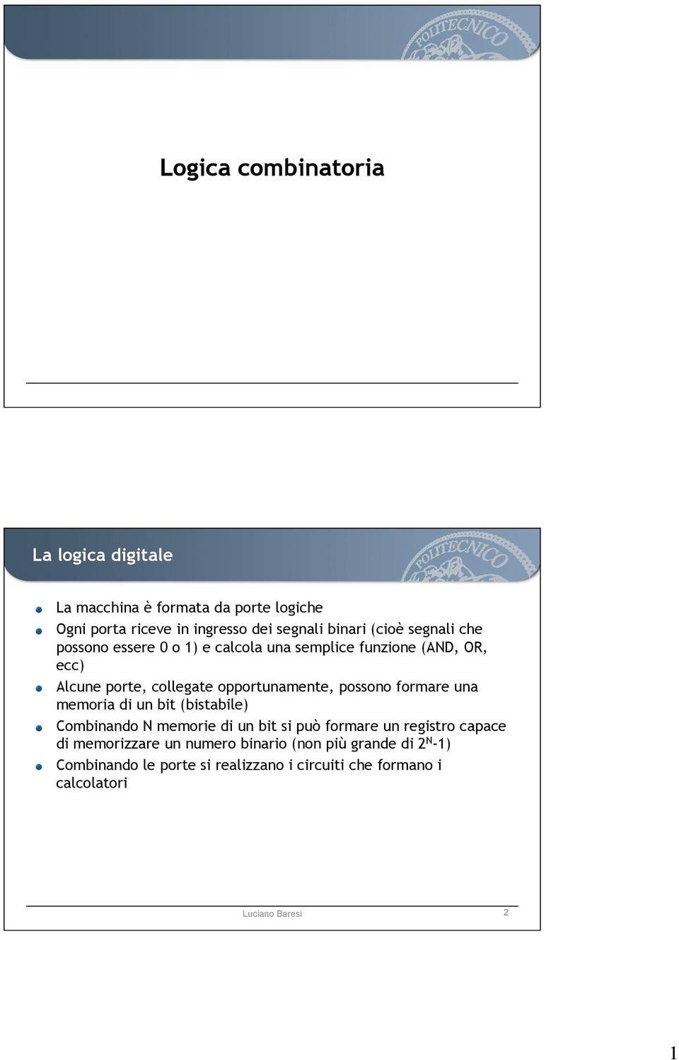 Logica combinatoria la logica digitale pdf - Calcola imposta di registro ...